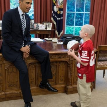 A Little Boy With Brain Cancer Met With President Obama